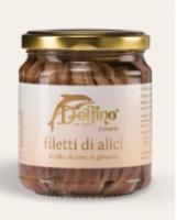 Filetti di Alici di Cetara in olio di girasole 212 gr Delfino