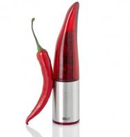 Macina Peperoncino in acciaio inox ed acrilico Pepe Rosso AdHoc