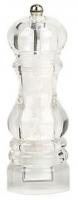 "Acrylic Salt Mill ""Milano"" 17,5 cm with ceramic grinder Bisetti"