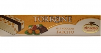 Hard Nougat with Hazelnuts and Dark Chocolate Heart 150 gr Oliviero