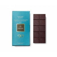 Toscano Black Cioccolato Fondente Extra 90% blend forte 50 gr Amedei